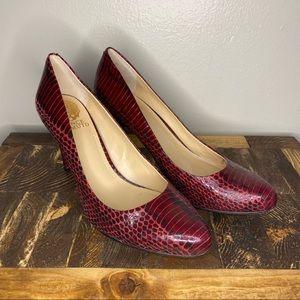 Vince Camuto Red Snakeskin Pumps Heels Size 8.5